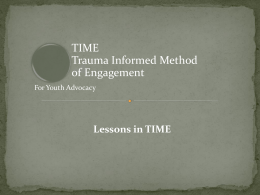 Trauma-Informed Method of Engagement
