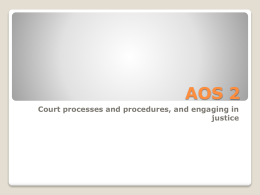AOS 2 Unit 4 - VCE Legal Studies