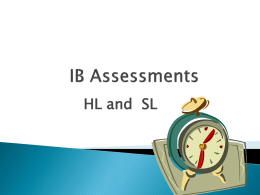 IB Assessments PPT for upcoming submission