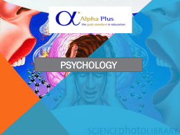 psychology - Abbey College Birmingham