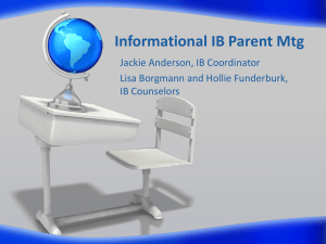 Informational IB Parent Mtg