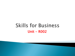 Skills for Business_TASK2