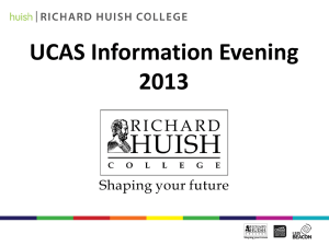 UCAS Information Evening 2013