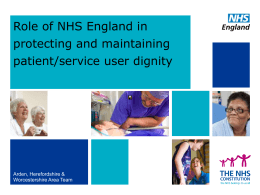 Role of NHS England in safeguarding – Vikki Tweddle