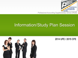 University Students - Information Session - 2014