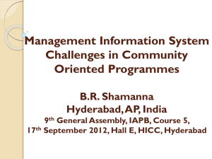 Dr BR Shamanna-Miss Challenges in Community