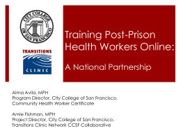 Training Post-Prison Health Workers Online
