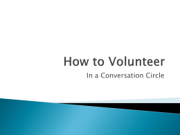 How to volunteer - Community Integration Network
