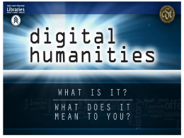 Digital Humanities powerpoint.