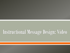 Instructional Message Design: Video