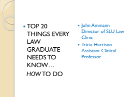 top 20 things every law graduate needs to know*how to do