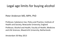 Legal age limits for buying alcohol