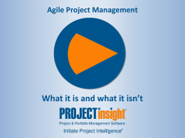 Agile Release - Project Insight Downloads
