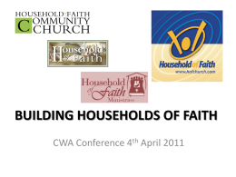 BUILDING HOUSEHOLDS OF FAITH
