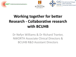 Working together for better Research