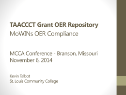 OER Repository Presentation - Missouri Community College