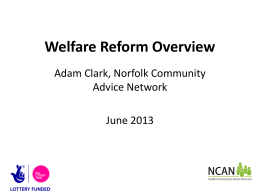 Welfare Reform Overview