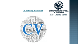 Making a CV - StartIn - Entrepreneurship Cell