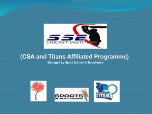CSA and Titans Affiliated Programme