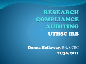 RESEARCH COMPLIANCE AUDITING