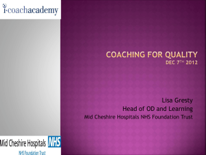 Coaching For Quality British Psychological Society Conference Dec