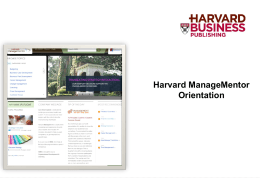 Harvard ManageMentor
