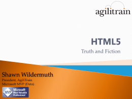 HTML5 - Shawn Wildermuth