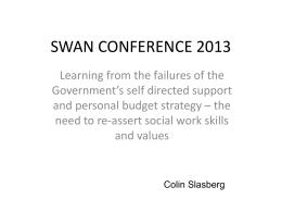 4. Colin Slasberg - Personalisation