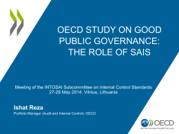 OECD Study on SAIs` Role in Enhancing Good Governance