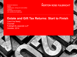 Estate and Gift Tax Returns