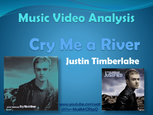 Analysis of Cry Me a River Music Video – Course Work #1