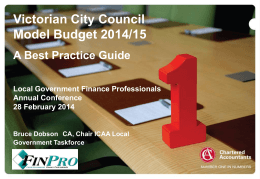 Bruce Dobson - Finpro, Local Government Finance Professionals