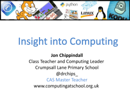 Introducing Computing - The St Helens Teaching Schools