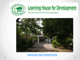 Learning House for Development