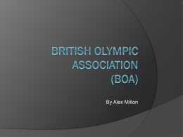 British Olympic Association (BOA)
