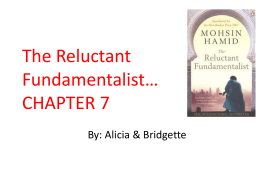 The Reluctant Fundamentalist CHAPTER 7