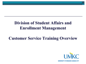 Customer Service and Retention - University of Missouri
