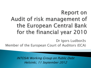 ECA`s audits of the ECB - Working Group on Public Debt