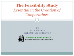 Essential in the Creation of Cooperatives