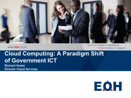 Cloud Computing -- A Paradigm Shift of