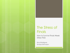 The Stress of Finals Week Powerpoint Presentation