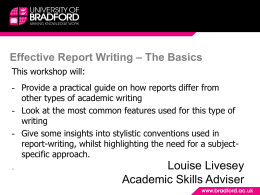 Eff-Report-Writing - University of Bradford