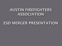 AFA EBoard Recommendations for ESD Merger Project Summary