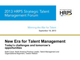 New Era for Talent Management