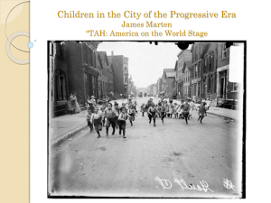 Children During the Progressive Era