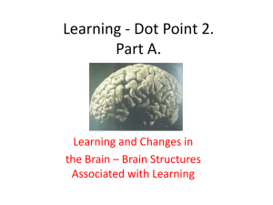 Learning - Dot Point 2.