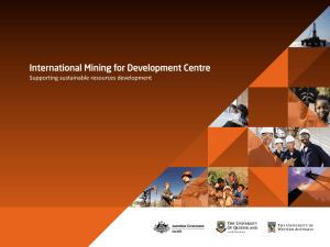 IM4DC Operations Overview - International Mining for Development