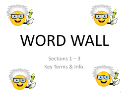 WORD WALL - Republic R