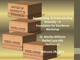 1 - Appreciating & Understanding Diversity