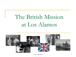 The British Mission to Los Alamos